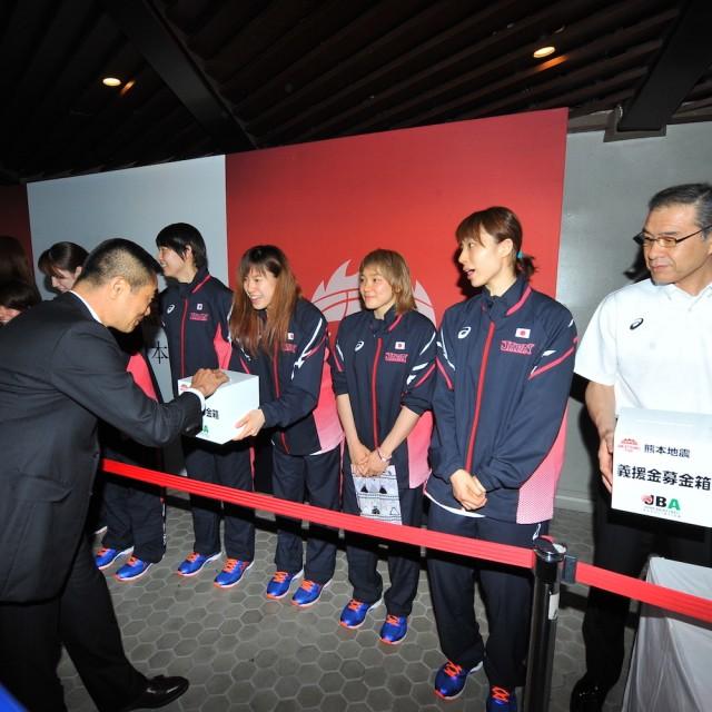 連日たくさんの方々に温かいご支援をいただいた熊本地震への募金活動